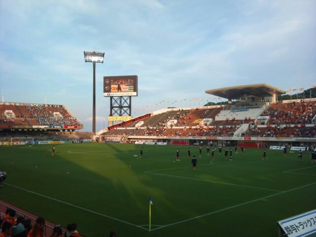 川崎戦試合前、暑かった一日
