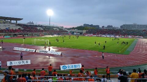 ナビスコカップ、札幌戦の試合前