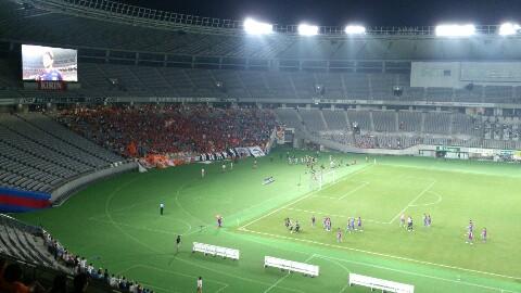 ナビスコ準決勝、FC<br />  東京戦が半分終了