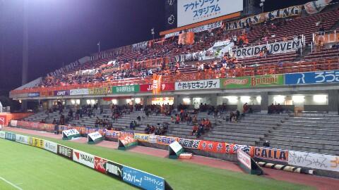 新潟戦、試合前です。