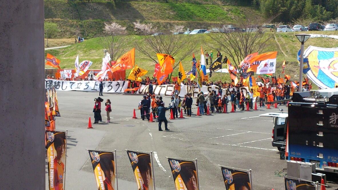 広島戦、試合前です。