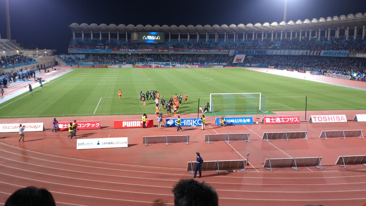 ナビスコカップ、川崎戦はドロー