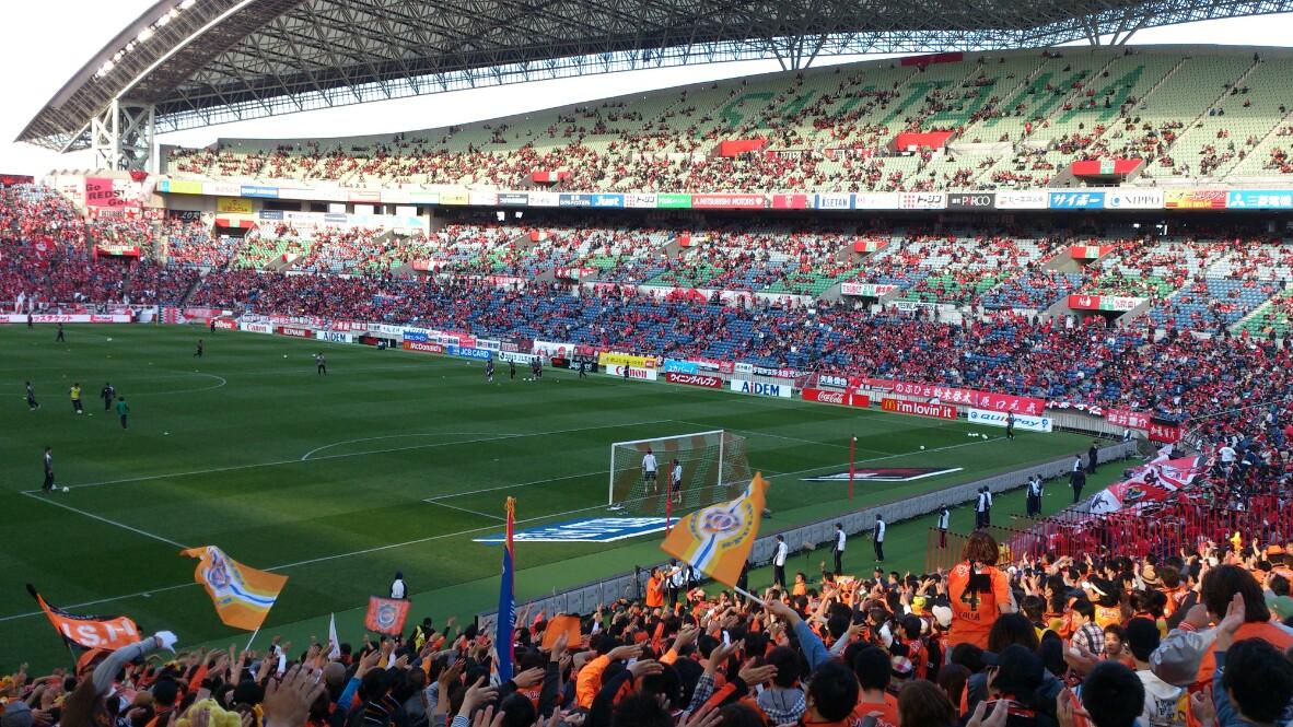 浦和戦、試合前です。