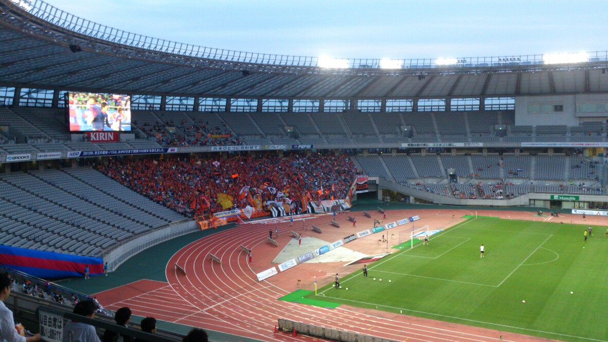FC東京戦、試合前です。